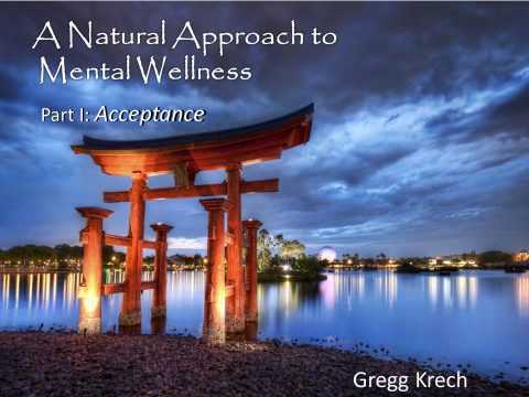 A Natural Approach to Mental Wellness: Part I – Acceptance