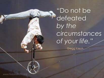 Do not be defeated Krech