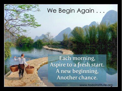 We Begin Again