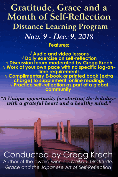 Gratitude, Grace and a Month of Self-Reflection Distance Learning Program
